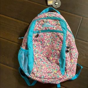 High Sierra Floral Curve Everyday Backpack NWT
